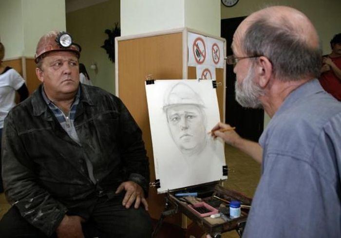 Портреты шахтеров (7 фото)