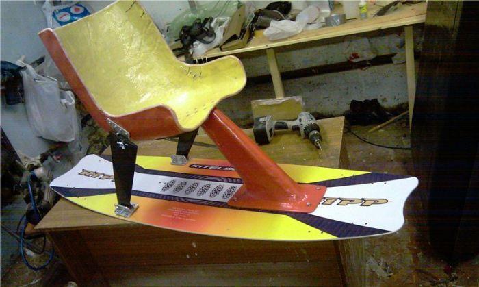 Sitboard – кайтборд с самодельным креслом (18 фото)