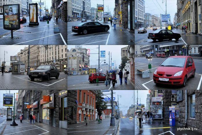 Почему в Москве можно парковаться на тротуарах (21 фото)