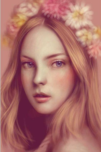 Цифровые портреты на планшете (11 фото)