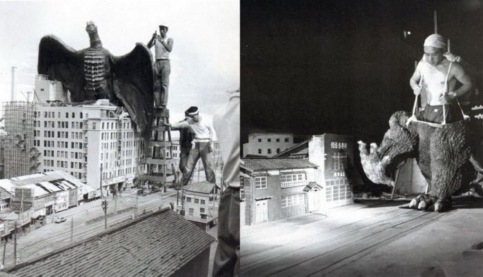 Закулисные моменты съёмок знаменитых фильмов (59 фото)