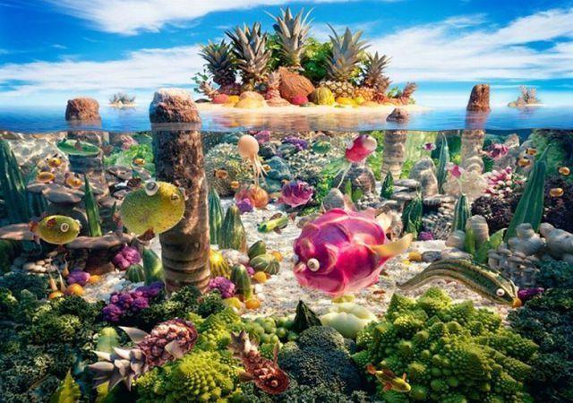 Пищевые ландшафты Карла Уорнера (35 фото)