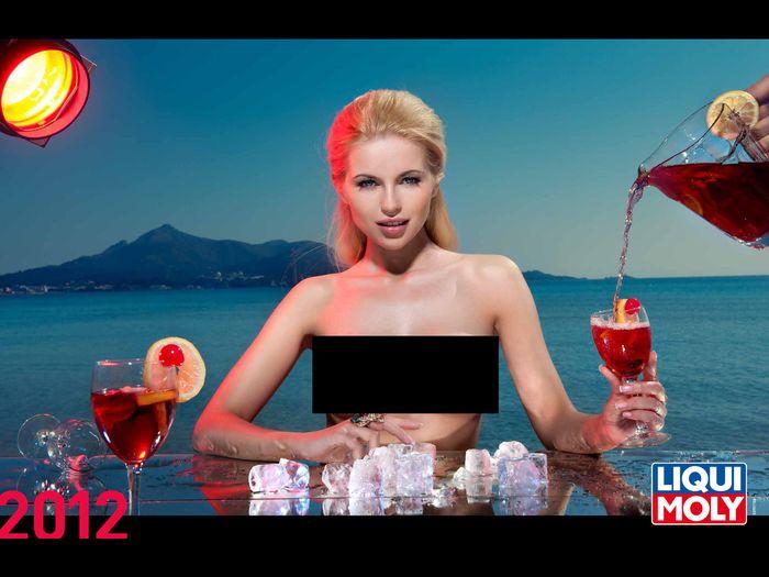 Эротический календарь LIQUI MOLY-2012 (14 фото НЮ + видео)