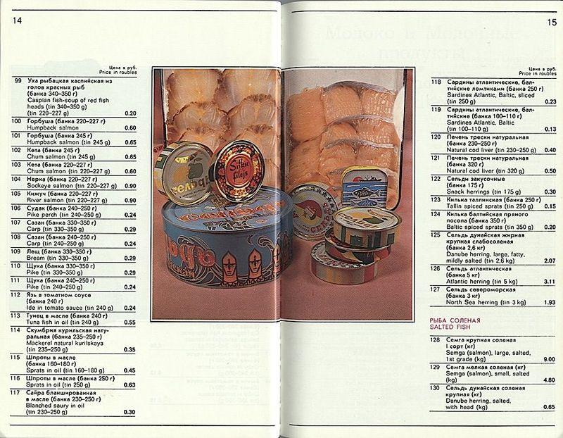 Прейскурант продовольственных товаров, продававшихся в Берёзке (41 фото)