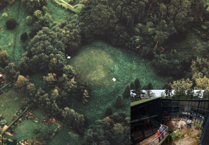 Дом на месте старого подземного бункера (8 фото)