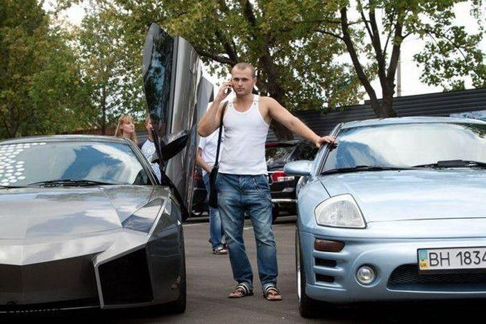 Одесская копия Lamborghini Reventon из Mitsubishi Eclipse (66 фото)