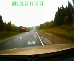 Водитель фуры уснул за рулем