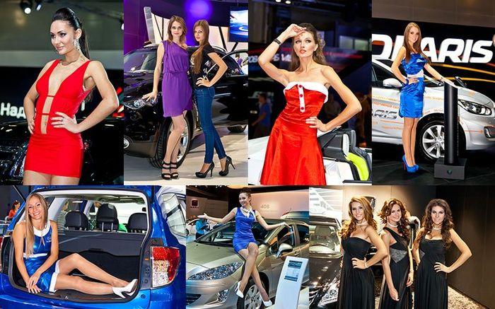 Девушки с Московского Международного Автомобильного Салона. Часть 4 (60 фото)