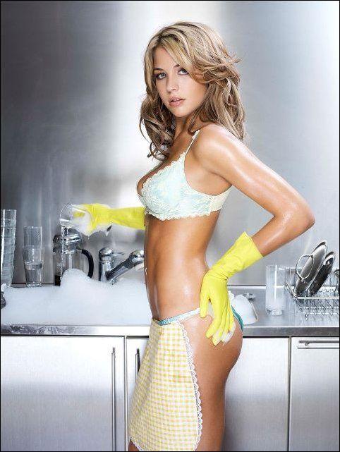 Стали фото девушки обнаженной на кухне бет финикс