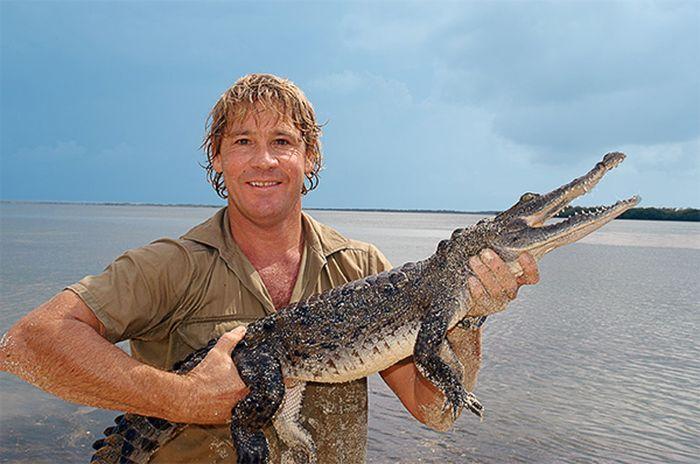 Охотник на крокодилов и его сын (8 фото)