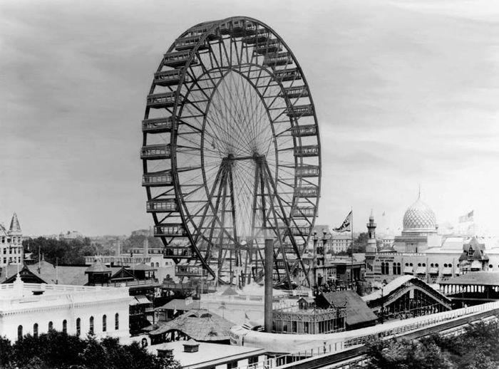Самое первое колесо обозрения (10 фото)