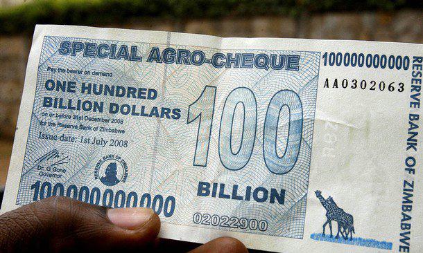 jeden bilion dolarów w Zimbabwe
