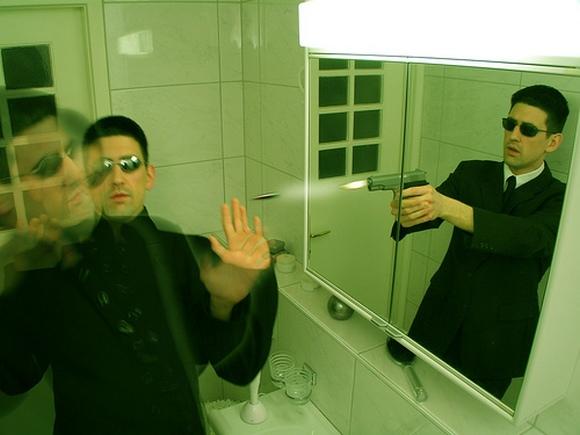 этом агент прислал зеркальные фотографии автоколлиматор