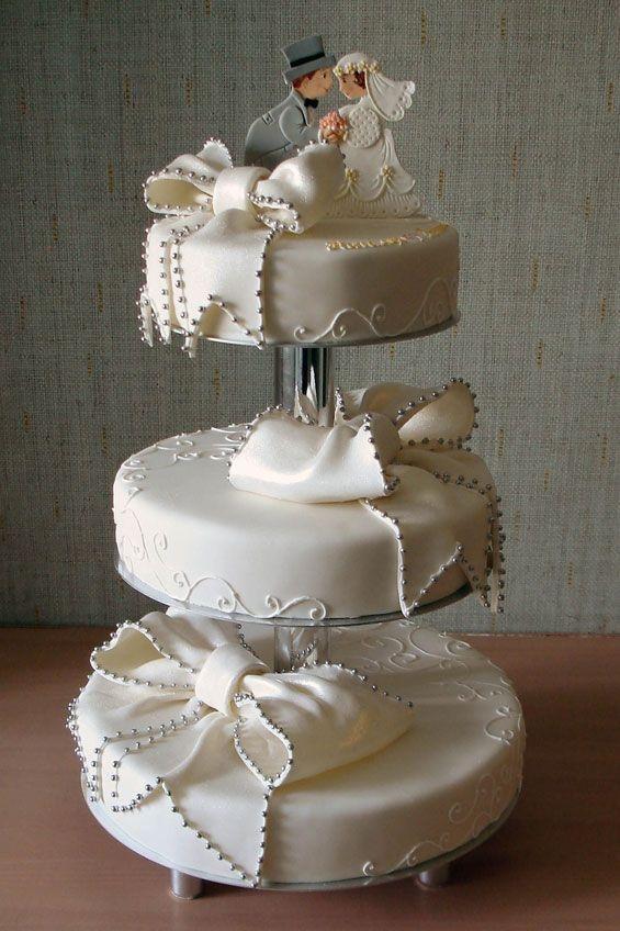 Превосходные свадебные торты (35 фото)