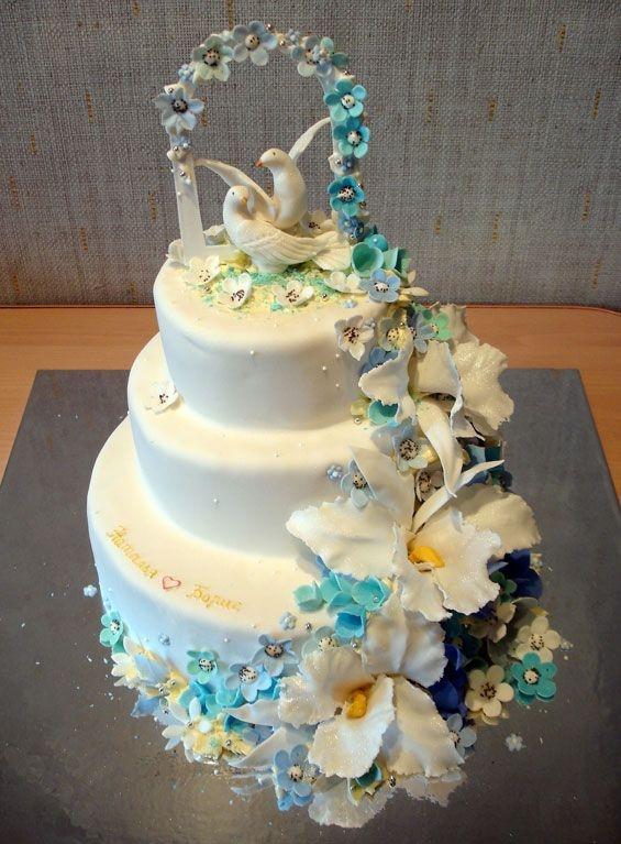 Свадебные торты (35 фото)