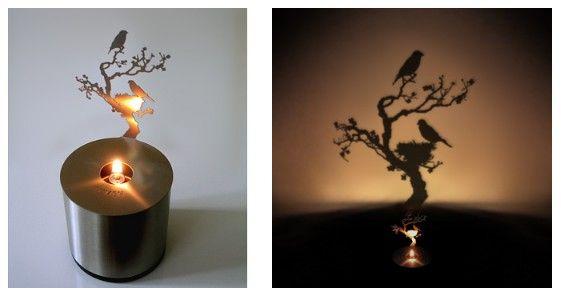 Очень оригинальное решение - здесь важен не сколько свет, сколько тень: