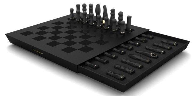 Думаете это шахматы? А вот нифига: набор вибраторов!