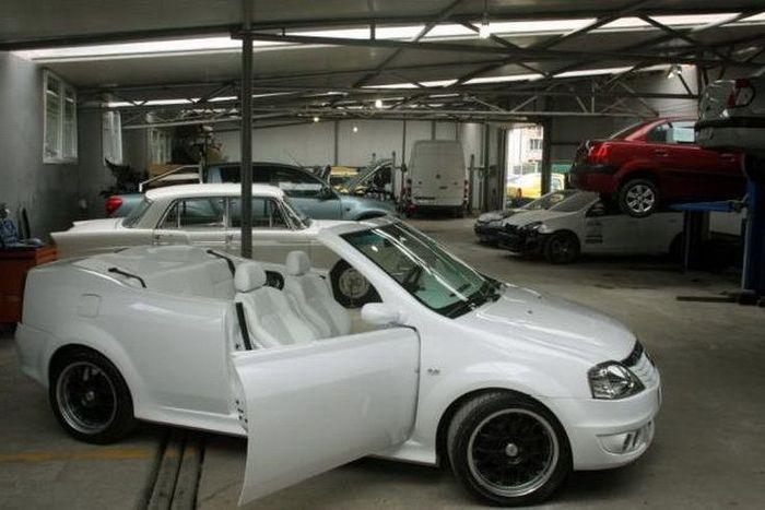 Рено Логан остался без крыши благодаря ателье Auto К9 (17 фото)