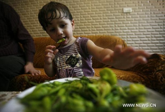 Самый молодой перченый едок (3 фото)