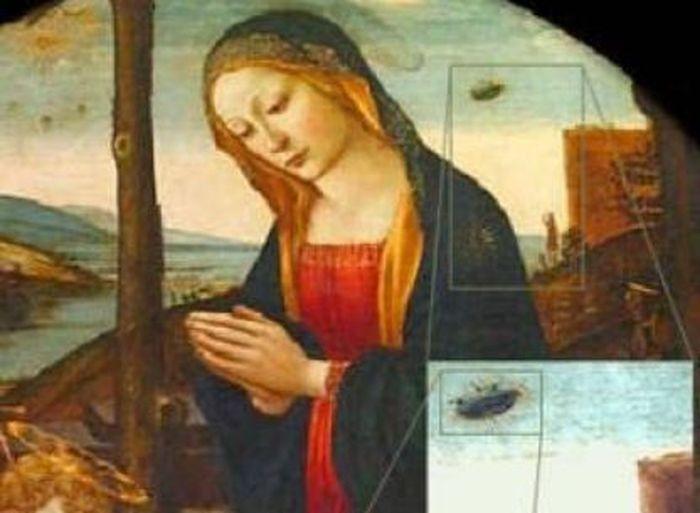 Неопознанные летающие объекты на старых фресках (19 фото)
