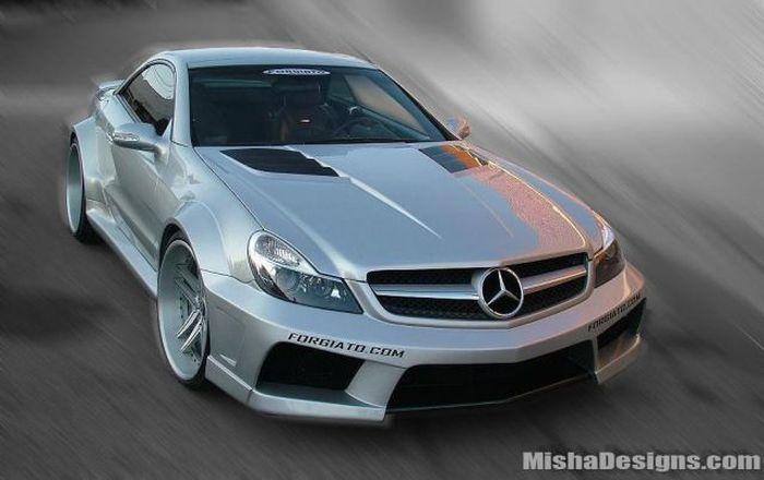 Ателье Misha Designs показали новый обвес для Mercedes SL-class (4 фото)