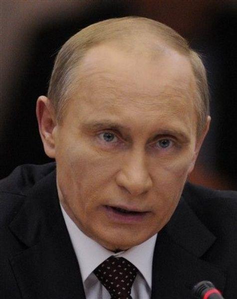 Синяк на лице Путина (7 фото)