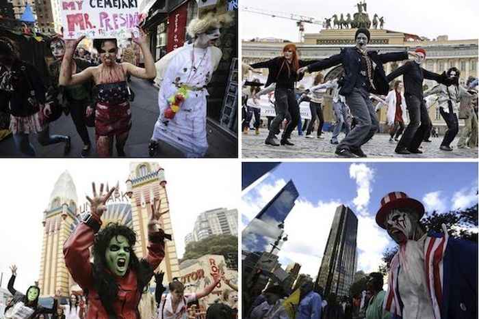 Зомби вышли на улицы  (59 фото)