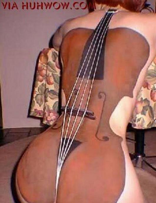 Боди Арт / виолончель Body Art. Фото аэрографии с Автоэкзотики