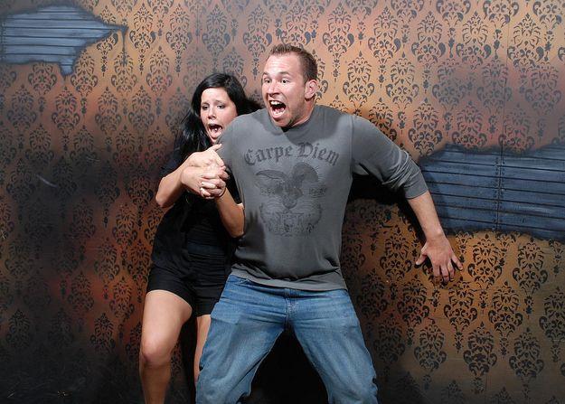 Люди в доме ужасов (47 фото)