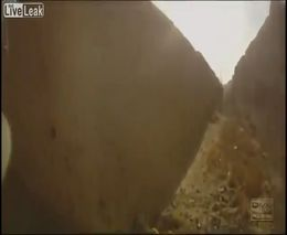 Подрыв на мине. Вид от первого лица