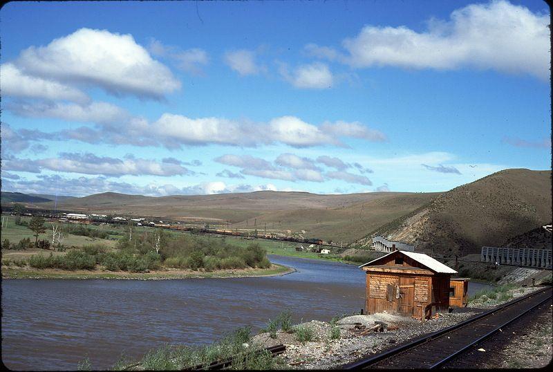 1424 СССР из окна поезда в 1975 году