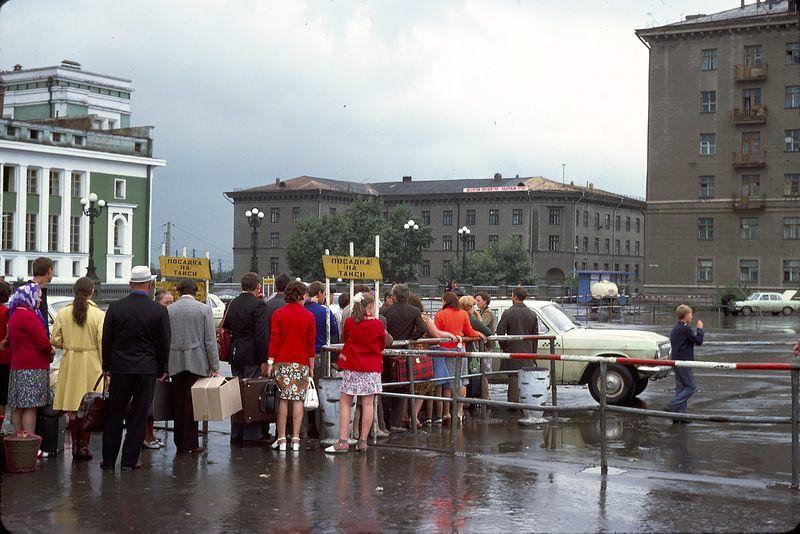 2417 СССР из окна поезда в 1975 году
