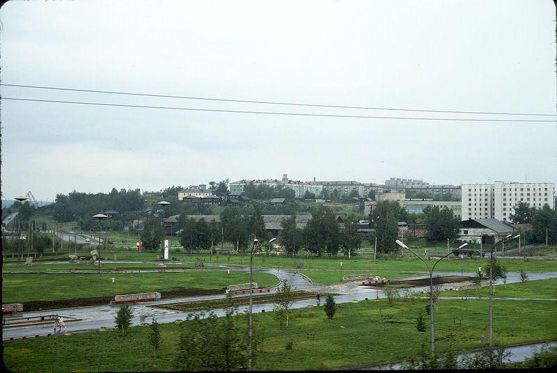 2814 СССР из окна поезда в 1975 году