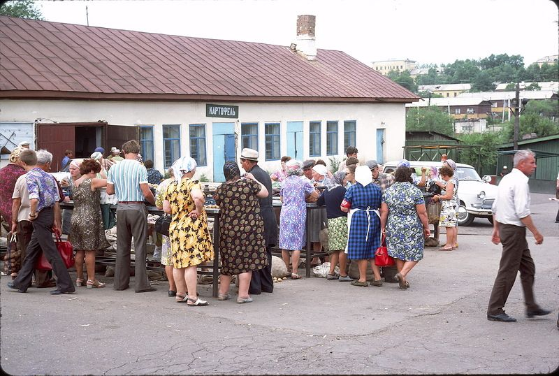 3100 СССР из окна поезда в 1975 году