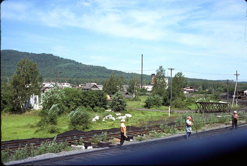 634 СССР из окна поезда в 1975 году