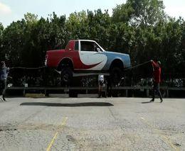 Машина способна прыгать через скакалку