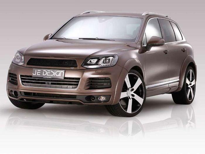 VW Touareg подвергся тюнингу от ателье JE Design (6 фото)