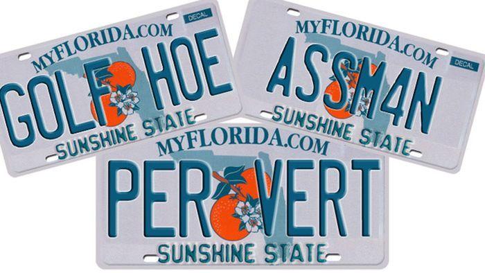 Запрещенные номерные знаки из Флориды (21 фото)