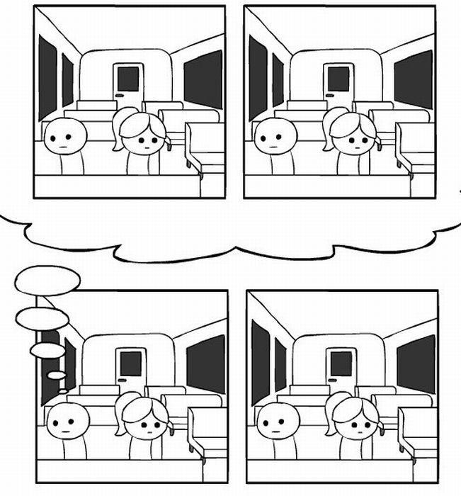 Комикс про знакомство (13 фото)