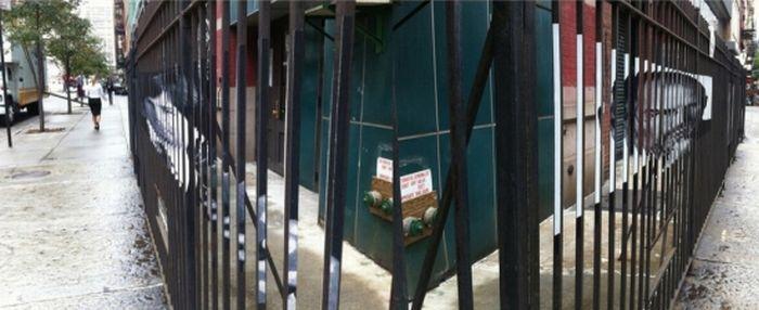 Стив Джобс - рисунок на заборе (4 фото + 1 видео)