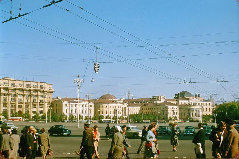 1732 Москва 1956 в фотографиях Жака Дюпакье