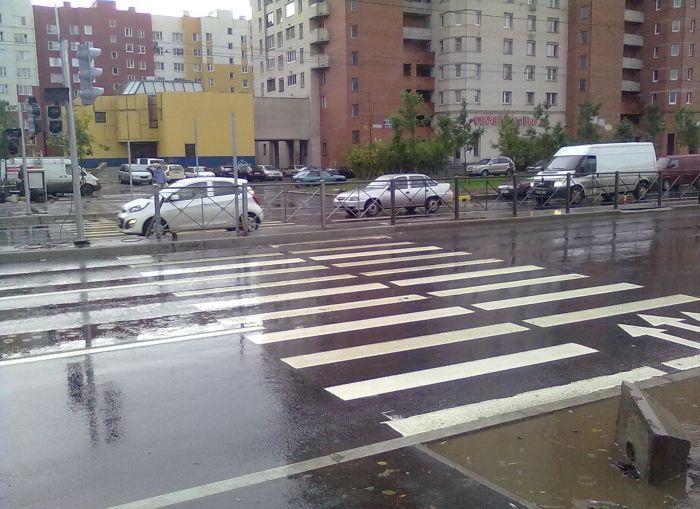 Суровый пешеходный переход (7 фото)
