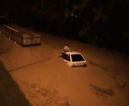 Потоп на автодороге в Сочи