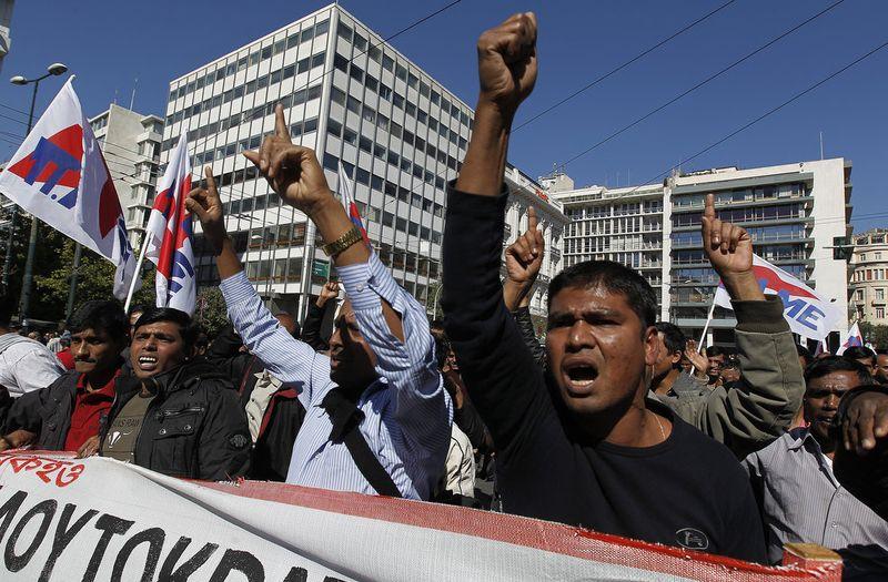greece riots 101911 03 Беспорядки в Греции: второй день демонстраций