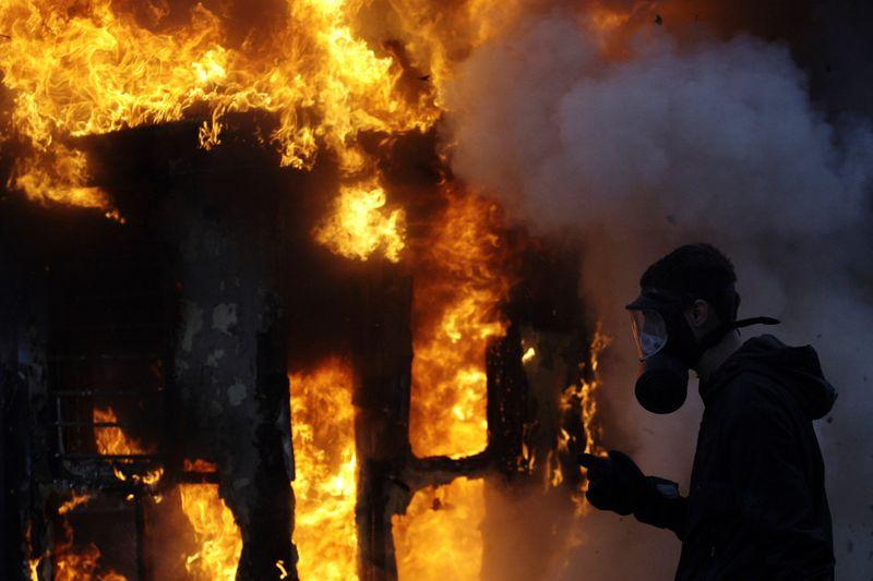 greece riots 101911 34 Беспорядки в Греции: второй день демонстраций