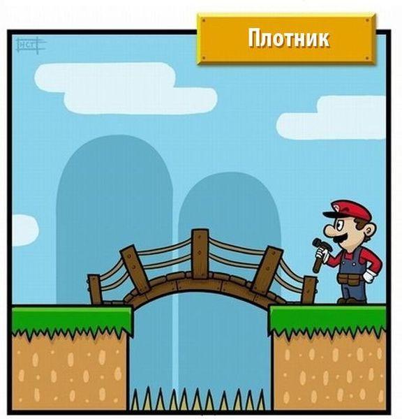 Если бы Марио не был сантехником (5 фото)