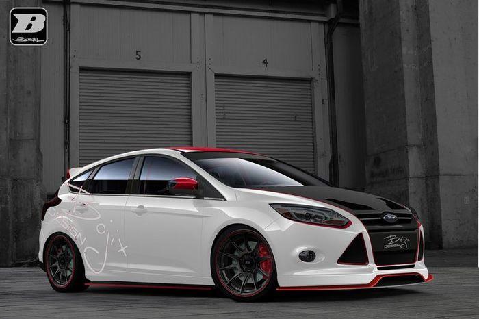 К выставке SEMA компания Ford подготовила Focus и Fiesta (10 фото)