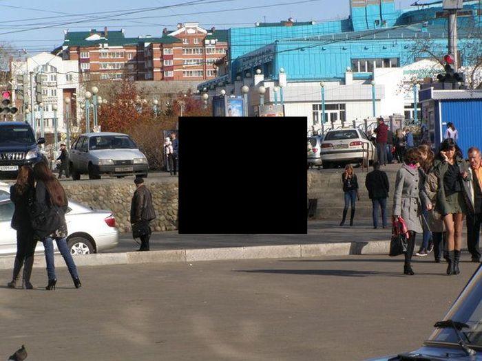 Суровая женская парковка (3 фото)