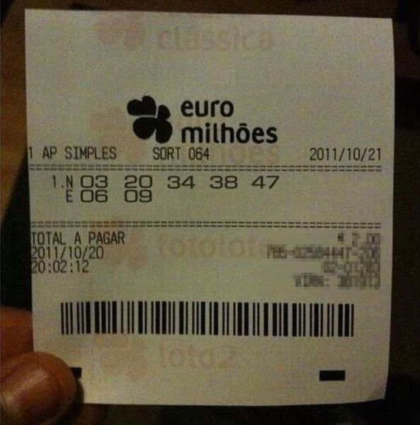 Самый несчастливый лотерейный билет (1 фото)