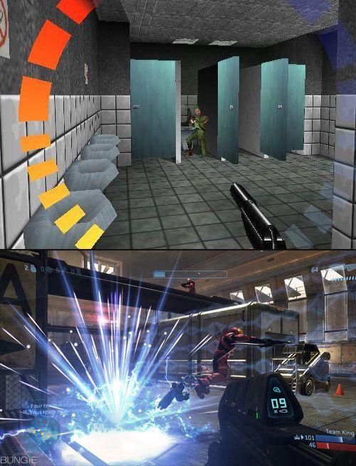 Видеоигры прошлого и настоящего (10 фото)
